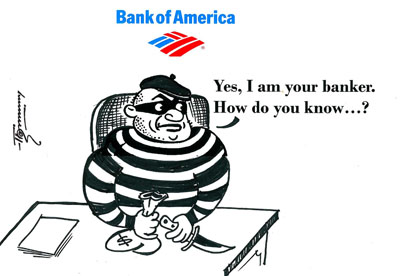 Bank Of America Forces Foreclosure and steals from homeowners